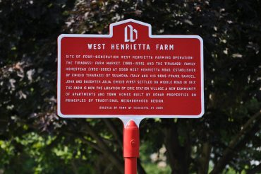 West Henrietta Farm sign.