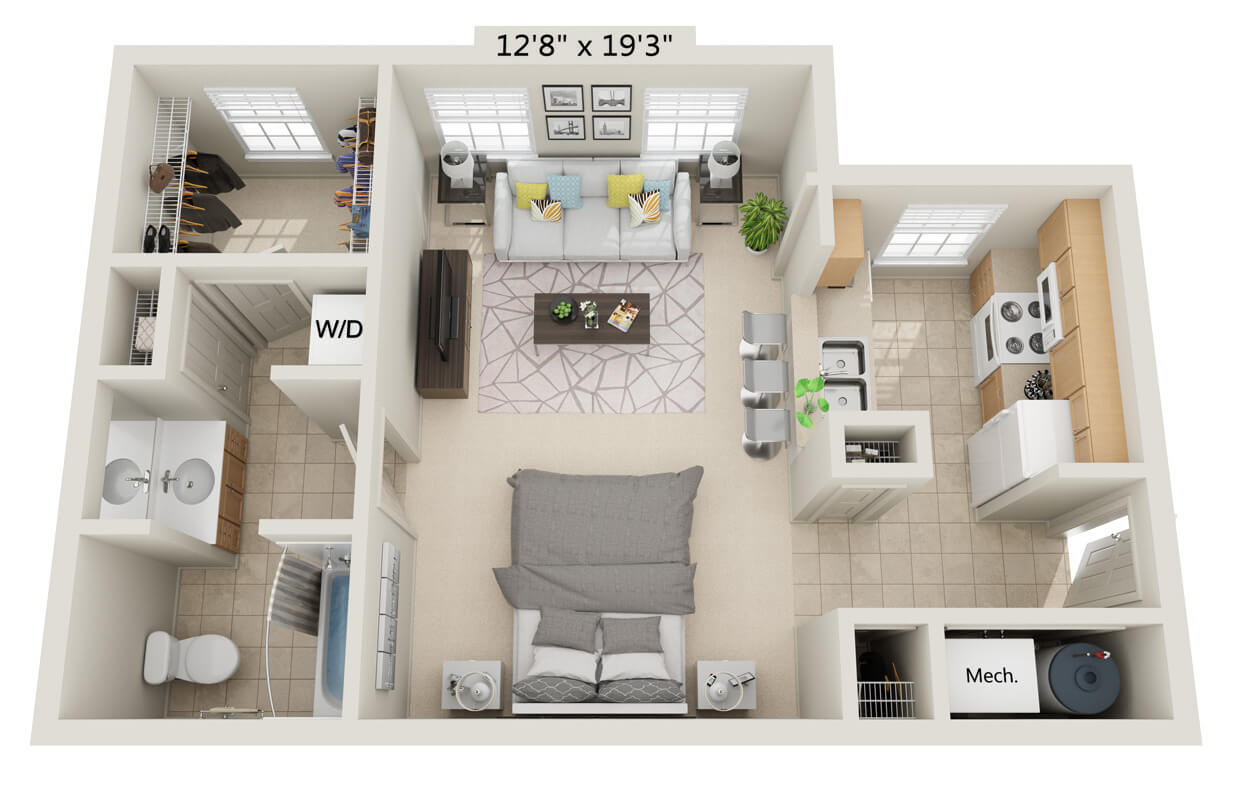 Floorplans Erie Station Village Townhouses Apartments Rochester Ny