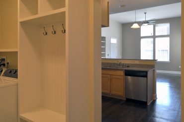 View from the mudroom into kitchen space in our villa unit.